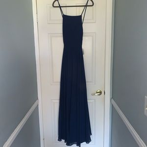 Lulus Navy Blue Formal Long Dress